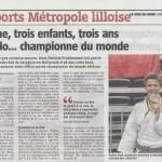 LA VOIX DU NORD 051014 SPORTS METROPOLE LILLOISE BD