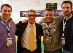 Michael, Philippe et les 2 lauréats : Arnaud et Vincent
