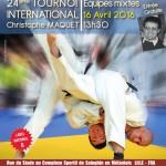 Affiche Tournoi international Christophe Maquet 160416