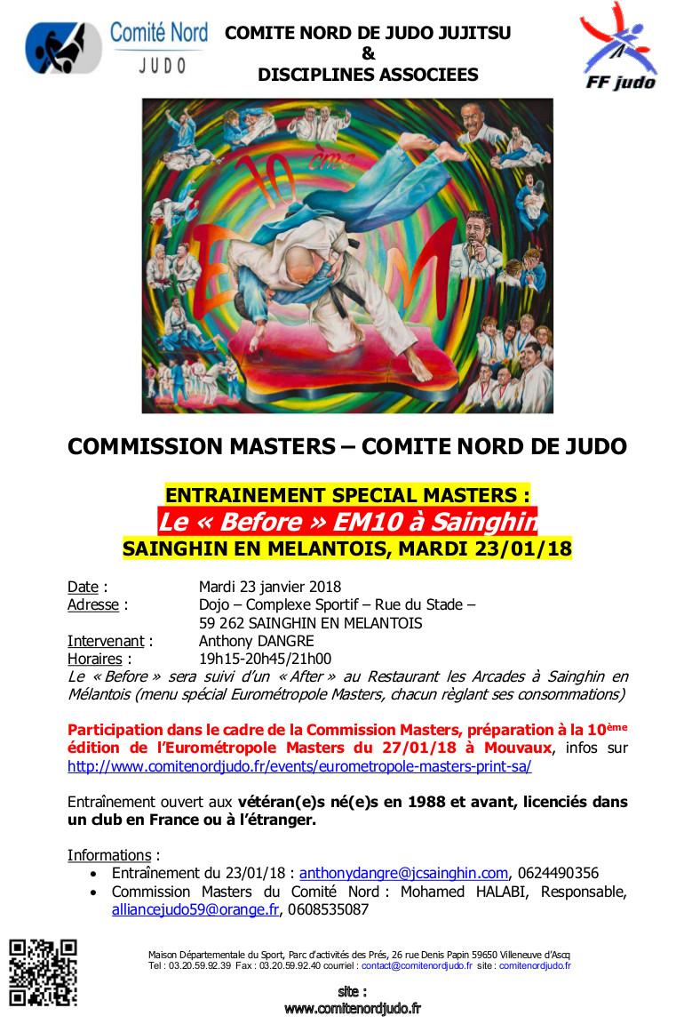 COMMISSION MASTERS ENTRAINEMENT A SAINGHIN 230118