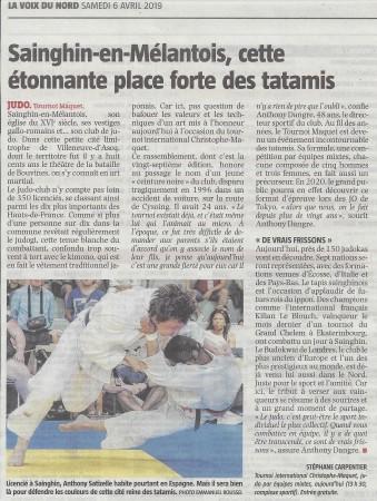 LA VOIX DU NORD SPORTS LILLE METROPOLE 060419