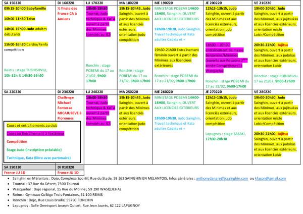 PROGRAMME VACANCES FEVRIER 2020 AU 140220