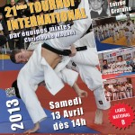 Affiche de la 21ème édition du Tournoi International Christophe MAQUET, 13/04/13